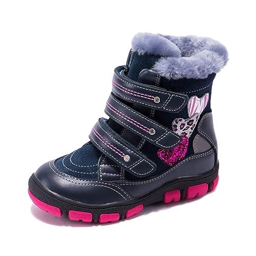 Feidaeu Scarponi da Neve per Bambini delle Ragazze Scarpette Ortopediche  per Bambini delle Ragazze dei più Alti di Inverno Scarpe da Bambino per  Ragazze ... bcf5eea9f0d