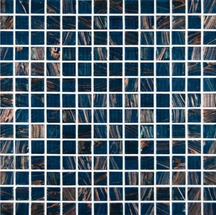 MS International 3/4 in. x 3/4 in. Blue Iridescent Glass Mosaic Floor & Wall Tile - Full Tile Sample - SAMPLE LISTING - ONLY ONE ALLOWED PER HOUSEHOLD