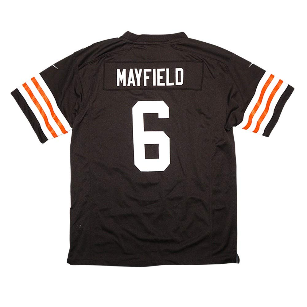 sports shoes 97e59 69ea8 Nike Baker Mayfield Cleveland Browns NFL Youth Brown Home Game Jersey