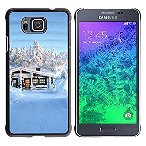 Paccase / SLIM PC / Aliminium Casa Carcasa Funda Case Cover - Nature Beautiful Forrest Green 141 - Samsung GALAXY ALPHA G850