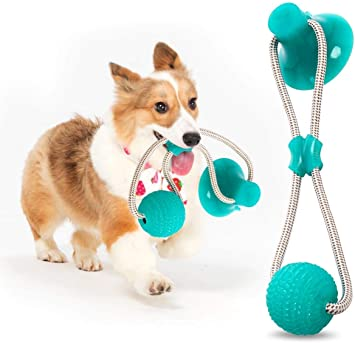 Pet Chew Ball Toy, Dog Suction Toy, Dog Tug Toy, Dog Toothbrush Toy, Durable Dog Tug Rope Ball Toy With Suction Cup Tugging, Pulling, Chewing,