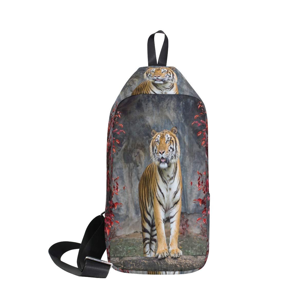 TFONE Animal Tiger Pattern Crossbody Bag Lightweight Chest Shoulder Messenger Pack Backpack Sling Bag