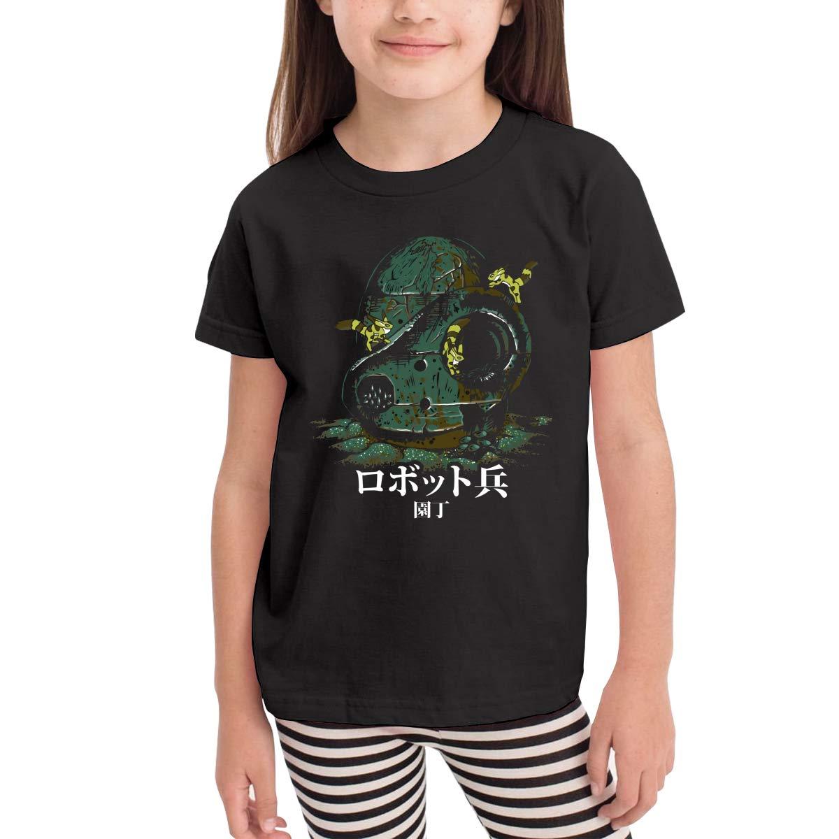 WYeter Castle in The Sky Laputa Infant Kids Classic Short Sleeve Tshirt Black