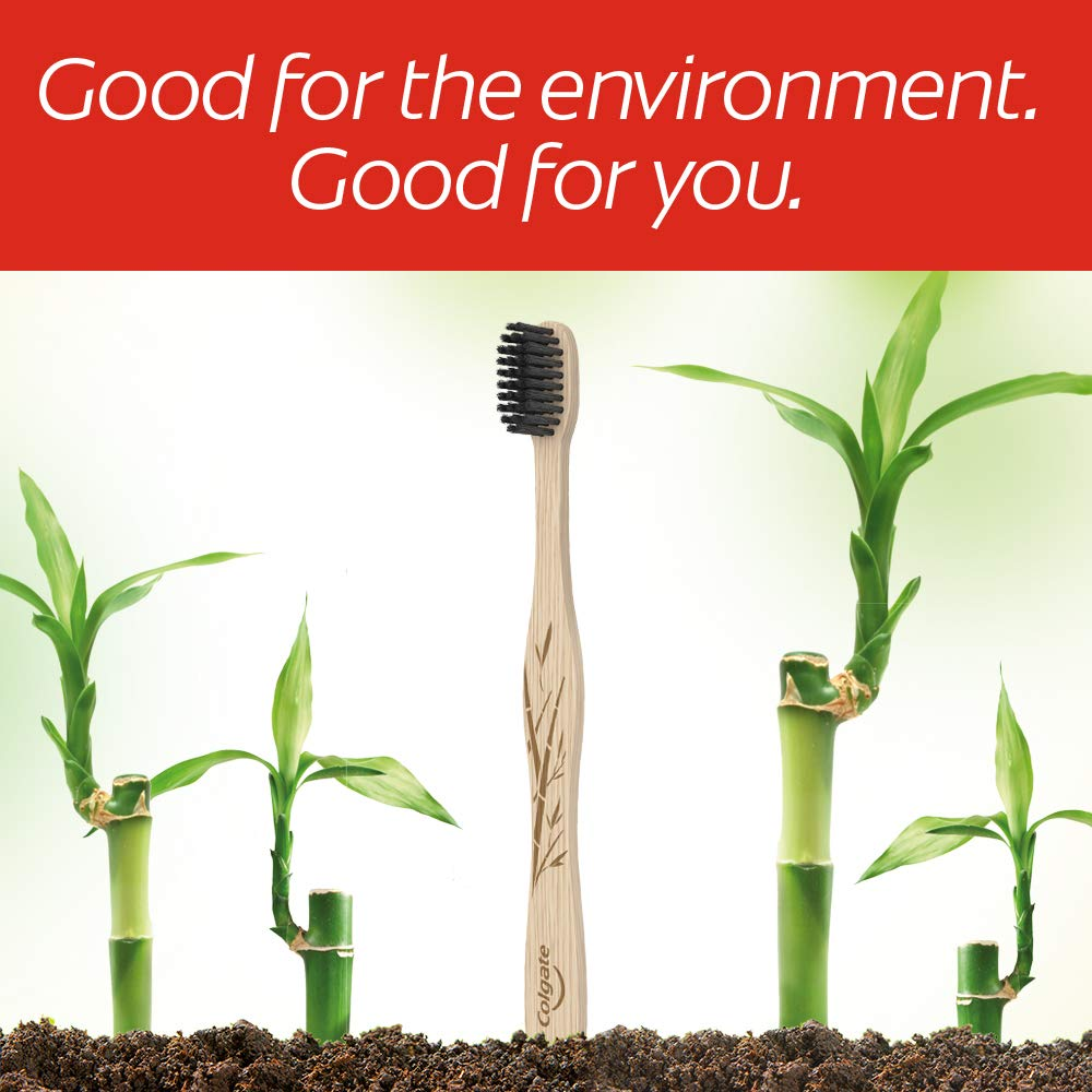 Colgate Charcoal Bamboo Toothbrushes
