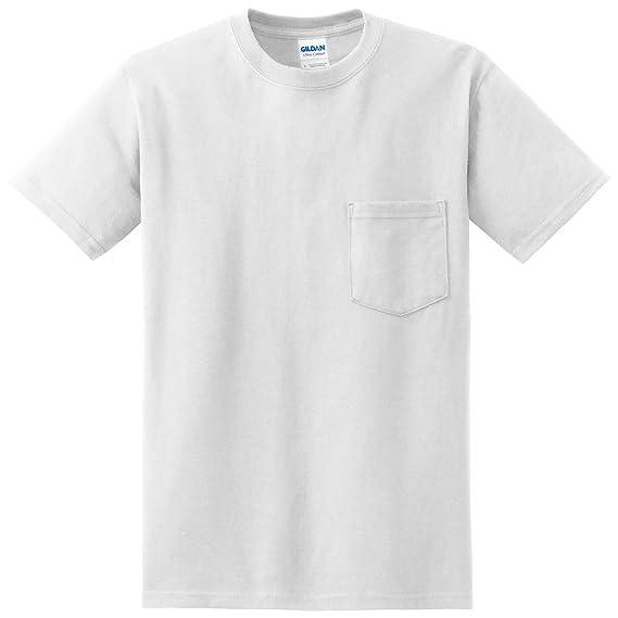 Gildan Hombre Bolsillo Camiseta (5 unidades)