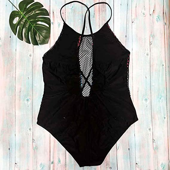 Luckycat Bañadores Bikinis, Mujeres Bikinis Push Up de Cuello en V Acolchado Tejido Bra Bathingsuit Bañador Set/Ropa Playa Swimsuit/Deportivos Bañador: ...
