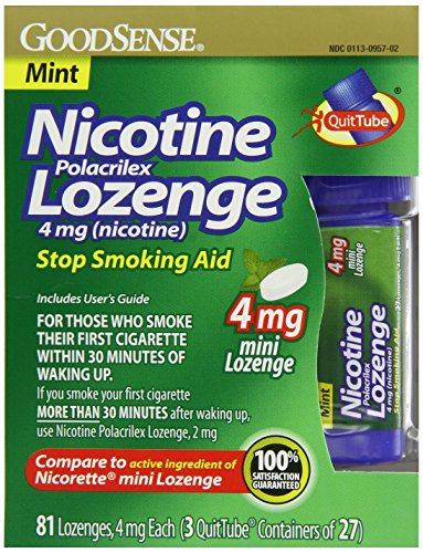 Goodsense Mini nicotine Polacrilex Losange, Mint, 4mg, 81 comte