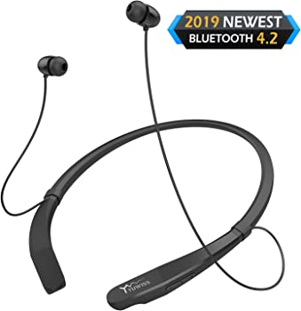 Yuwiss Lightweight V4.2 Bluetooth Neckband Earphones with Mic