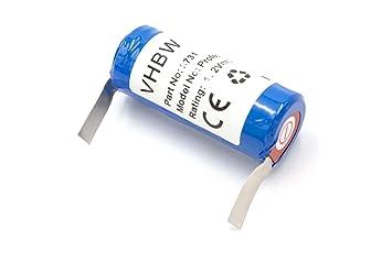 vhbw Batería NiMH 2500mAh (1.2V) para cepillo de dientes Braun Oral-B Professional Care, Sensitive, Sonic Complete, Triumph como Braun 3731, 3738.