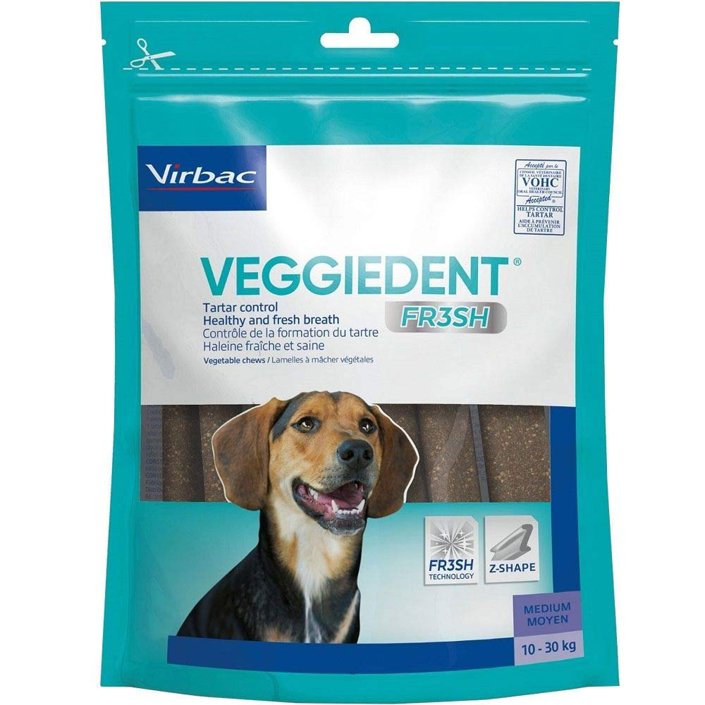 C.E.T. VeggieDent Chews, Regular,30 Chews Pack of 2, 60 total
