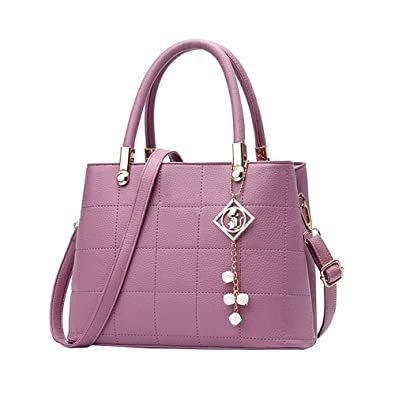 d6d042787f4b2 Amazon.com  Ladies Leather Handbags Casual Tote Bag Big Shoulder Bag For  Woman
