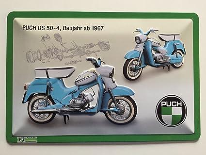 Deko7 Lizensiertes Metallschild Steyr Puch Ds 50 4 30x20 Cm Küche Haushalt