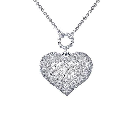 Amazon lafonn 18 puffy heart necklace jewelry lafonn 18quot puffy heart necklace aloadofball Gallery