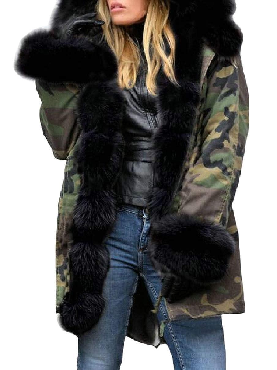 1 LEISHOP Women Winter Thicken Warm Hood Parka Overcoat Long Jacket Outwear
