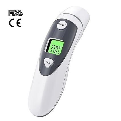 Termómetro Digital, Termómetro Infrarrojos de Frente y Oido, Termómetro Médico, Función de Memoria