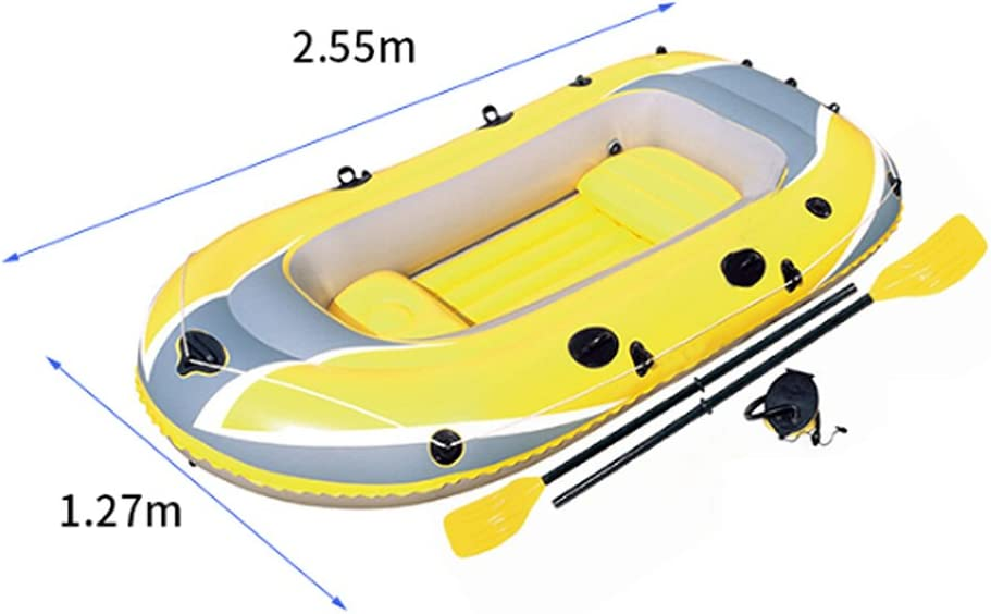 Amazon.com: MS kayak 2 personas amarillo grueso pesca barco ...