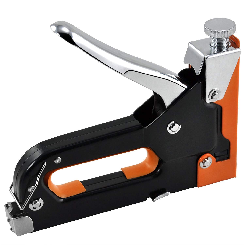 SODIAL Heavy Duty Steel Metal 4-8mm & 4-14mm Staple Gun for DIY Furniture Woodwork etc