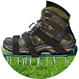 Lawn Aerator Spike Shoes,3 Straps Lawn Aerator Shoes With Metal Buckles for Effective Soil Aeration and Greener Yard