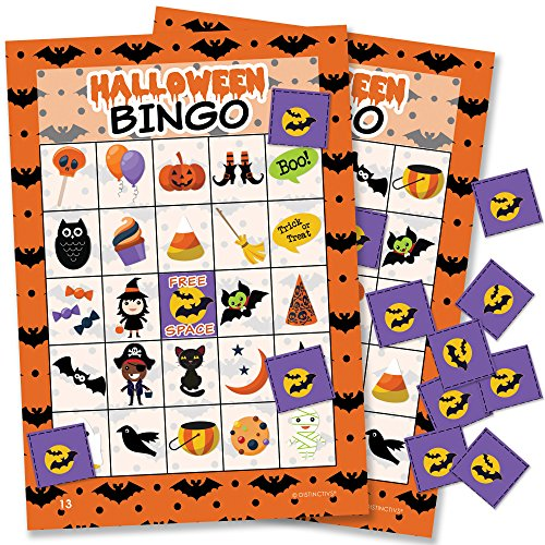 Halloween Bingo Game for Kids - 24