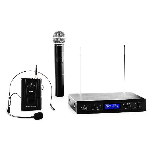 12 opinioni per Malone VHF- 400 Duo Set 3 Radiomicrofoni Wireless Senza Fili per Voce e Canto (2