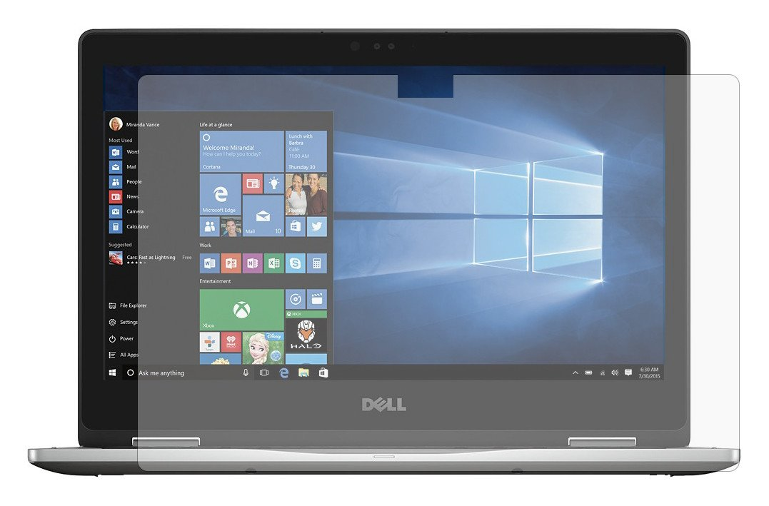PcProfessional Screen Protector (Set of 2) for Dell Inspiron 13 5000 series 5368 13.3'' 2 in 1 Touch Screen Laptop High Clarity Anti Scratch