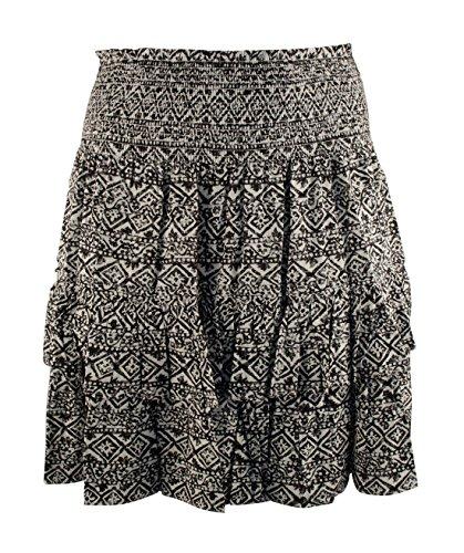 Lauren Ralph Lauren Women's Plus Size Geo-Printed Tiered Skirt-BP-16W