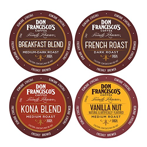Don Francisco's Single Serve Variety Pack, 4 x 12 count Single Serve Coffee Family Reserve (Packaging May Vary) (Don Francisco Coffee K Cups compare prices)