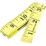 U-horizon 60 Inch 150cm Soft Tape Measure for Sewing Tailor Flexible Cloth Ruler Body Size Measurement, Yellow