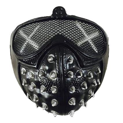 DLDL Máscara Punk de Halloween máscara de Demonio Remache Muerte máscara Fresca (Color : Negro