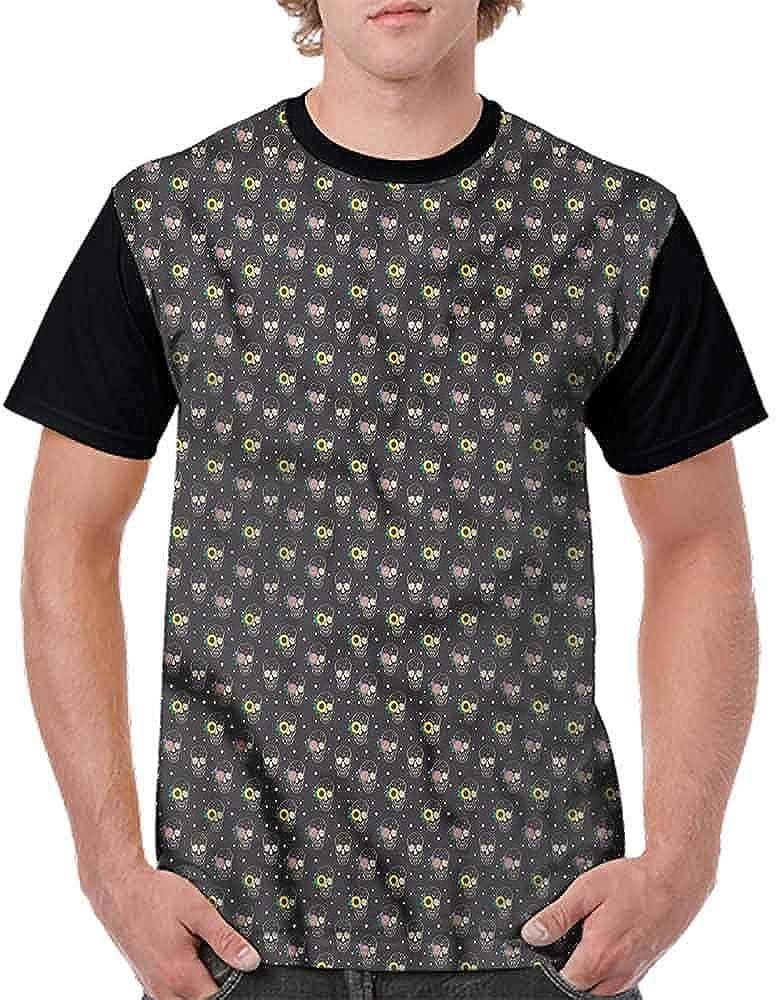 BlountDecor Cotton T-Shirt,Magician Hat Ghosts Circus Fashion Personality Customization
