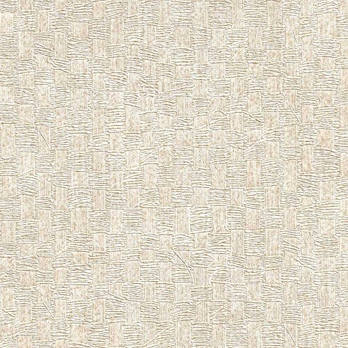 Woven Basket Metallic Beige Geometric Wallpaper For Walls - Double Roll - By Romosa Wallcoverings ()