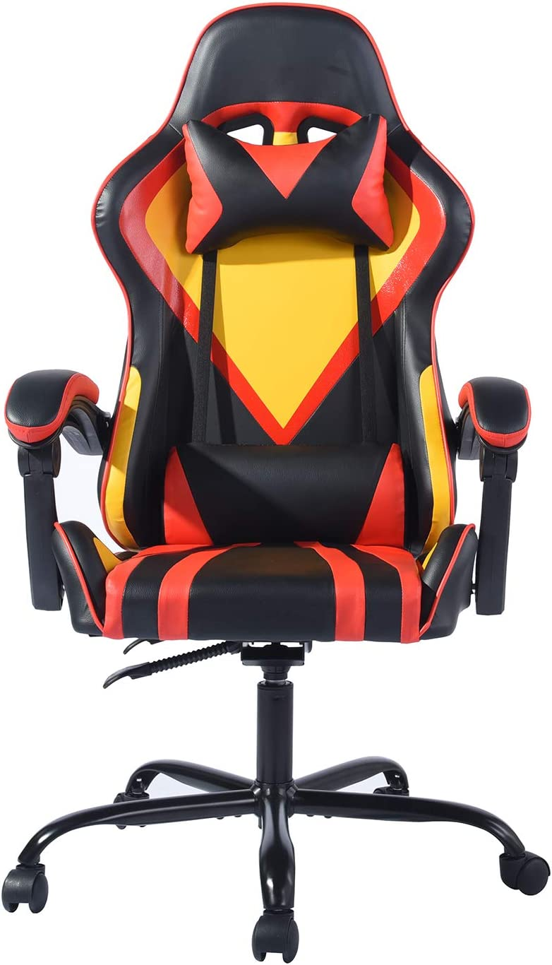 FurnitureR Gaming Chair Ergonomic Computer Desk Chairs High-Back Racing Chair Swivel Office Chairs Attic Nf