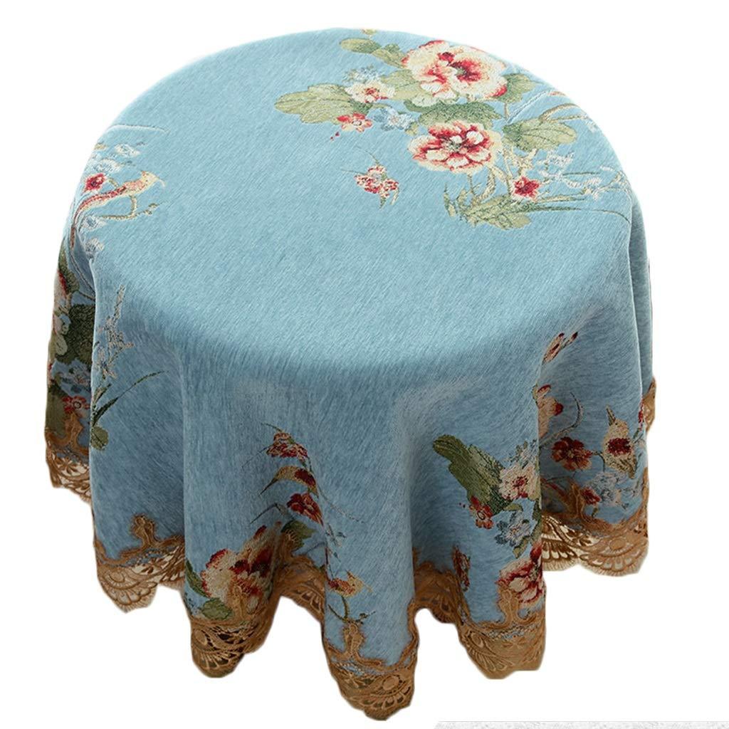 YTJ-JP ヨーロッパスタイルの小さな丸いテーブルクロス、花布の丸いテーブルカバー、家庭用コットン、リネンのテーブルクロス (Size : 200cm) 200cm  B07SS16PNN