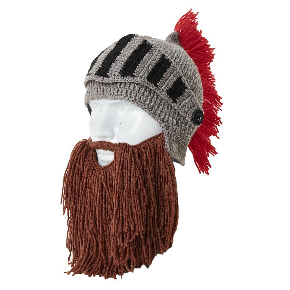 Lantra Besa Damen Herren Römischer Krieger Helm Mütze mit Bart ...