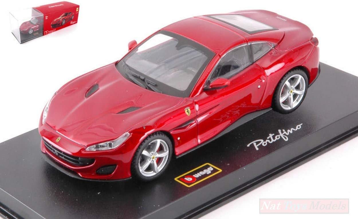New BURAGO BU36909 Ferrari Portofino Cabriolet Portofino Signature Red 1:43 Die CAST