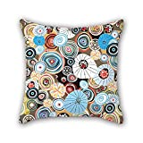PILLO geometry pillow cases 16 x 16 inches / 40 by 40 cm for living room,dining room,office,valentine,girls with each side