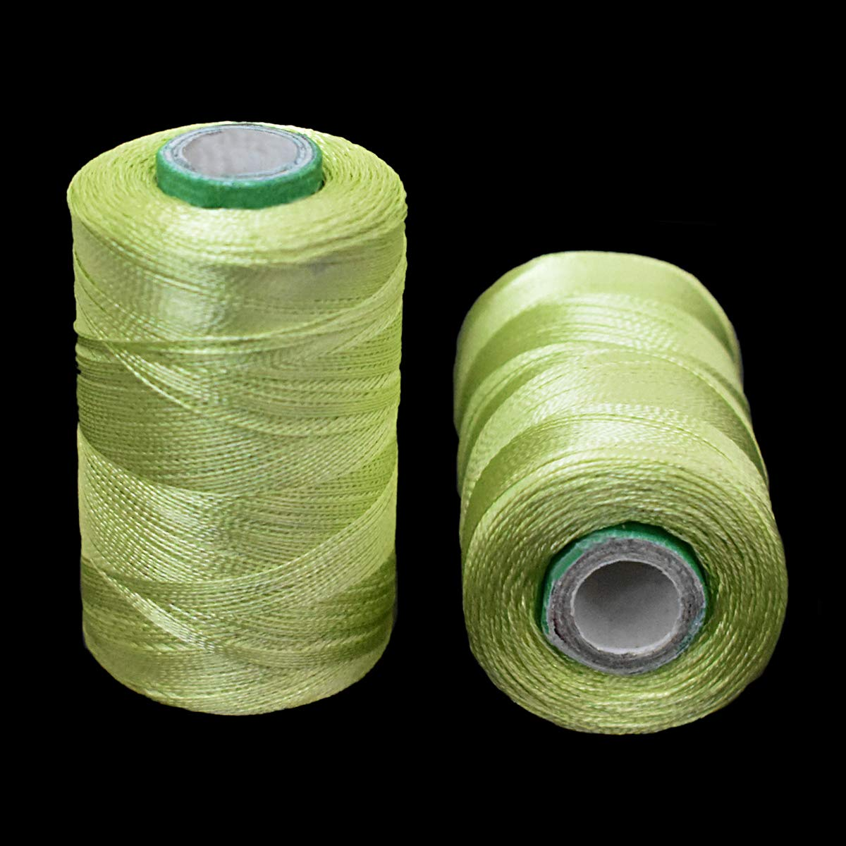 Silk Embroidery Threads for Embroidery Jewellery Craft Making 2 Rolls,Light Green Color