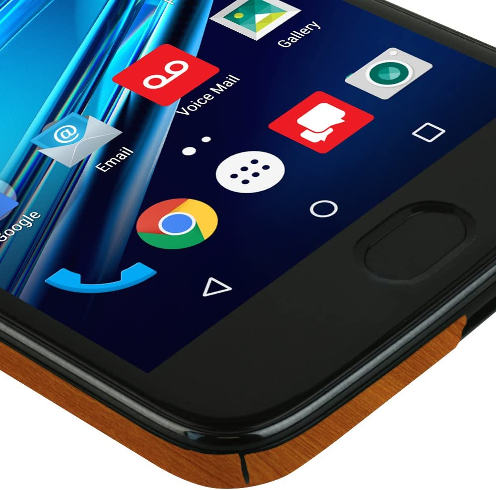 4th Generation, 2017 Full Coverage TechSkin with Anti-Bubble Clear Film Screen Protector Skinomi Light Wood Full Body Skin Compatible with Moto E4