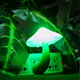 UNKE Mushroom Wall LED Children Night Light Baby Kids Bedroom Decor Warm LED Control