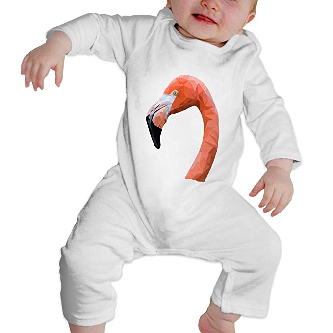 a65c9fffec44 Crazy Popo Unisex Baby Pink Flamingo Long Sleeve Romper Baby Clothes Outfits