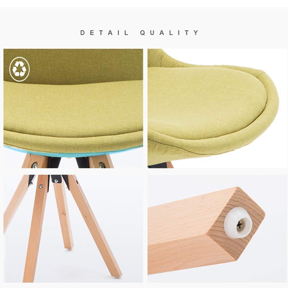 WYY HPLL kontorsstolar kök matstolar bänk lounge fritid hörnstolar flerfärgat tyg linne mottagningsstolar med ryggstöd mjuk kudde, fyra färger svängbar stol (färg: A) c
