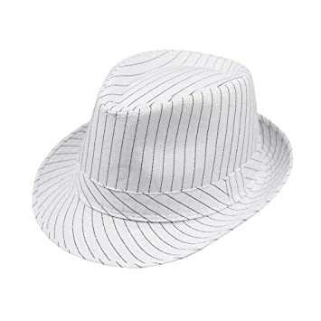 Men Women caasual Panama Fedoras Summer Striped Jazz hat Outdoor Beach Travel Sun hat