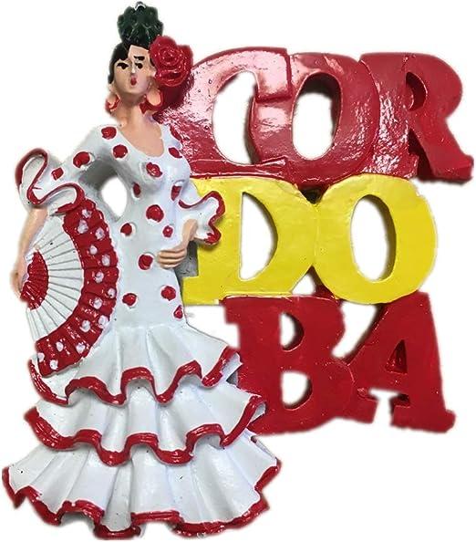 Weekinglo Souvenir Imán de Nevera Chica Baile Córdoba España ...