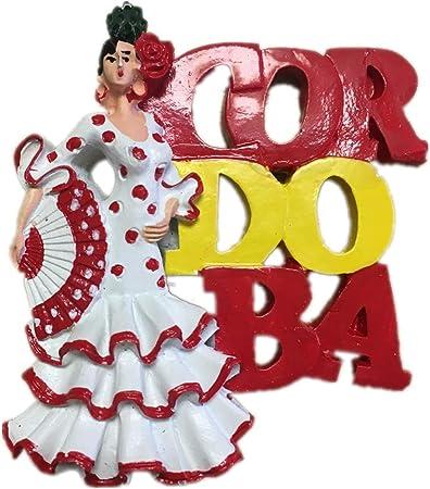 Weekinglo Souvenir Imán de Nevera Chica Baile Córdoba España Resina 3D Artesanía Hecha A Mano Turista Viaje Ciudad Recuerdo Colección Carta Refrigerador Etiqueta: Amazon.es: Hogar