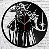 Cheap Yoda Star Wars Vinyl Record Wall Clock Fan Art Handmade Decor Original Gift Unique Decorative Vinyl Clock 12″ (30 cm)