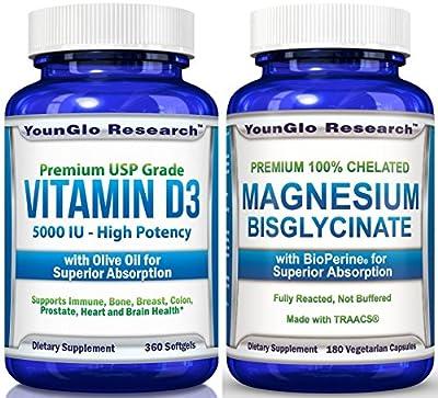 Vitamin D3 5000 IU - In Non GMO Organic Olive Oil - Powerful Health Benefits - 360 Softgels