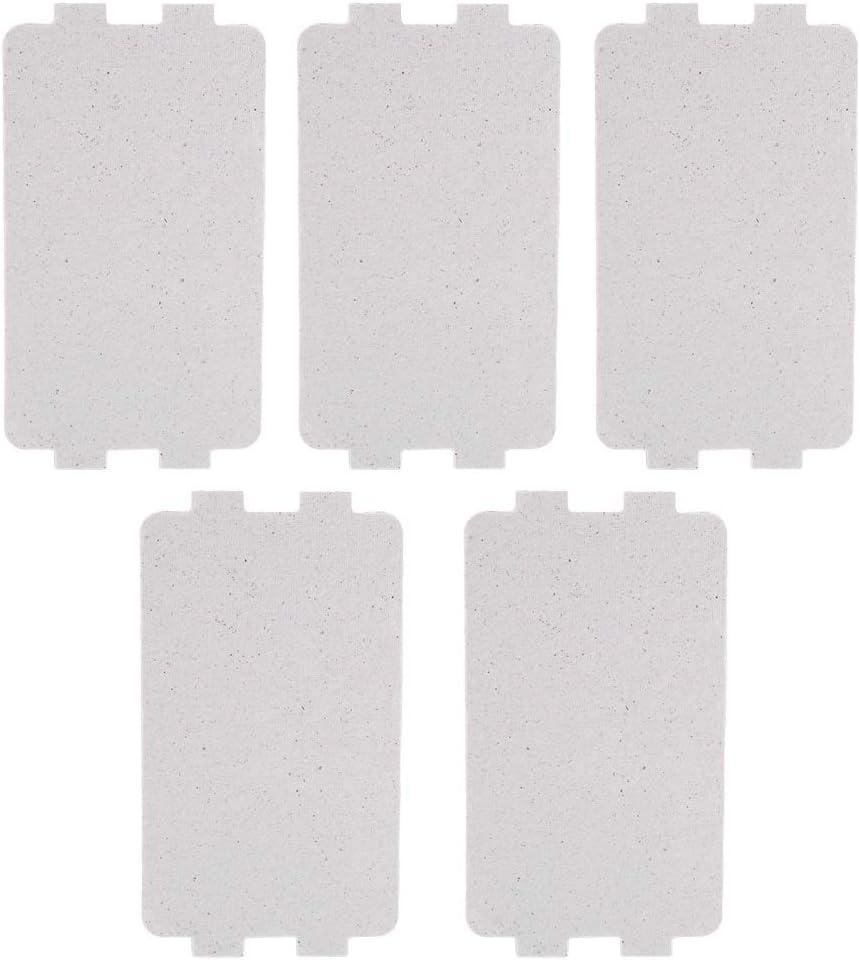 Nikou Placa de microondas - Accesorio de reparación de reemplazo de Hoja de Placa de Mica de Horno de microondas de 5 Piezas
