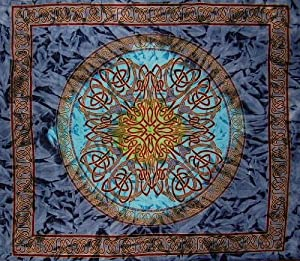 Celtic Circle Tie Dye Tapestry Many Home Decor Uses