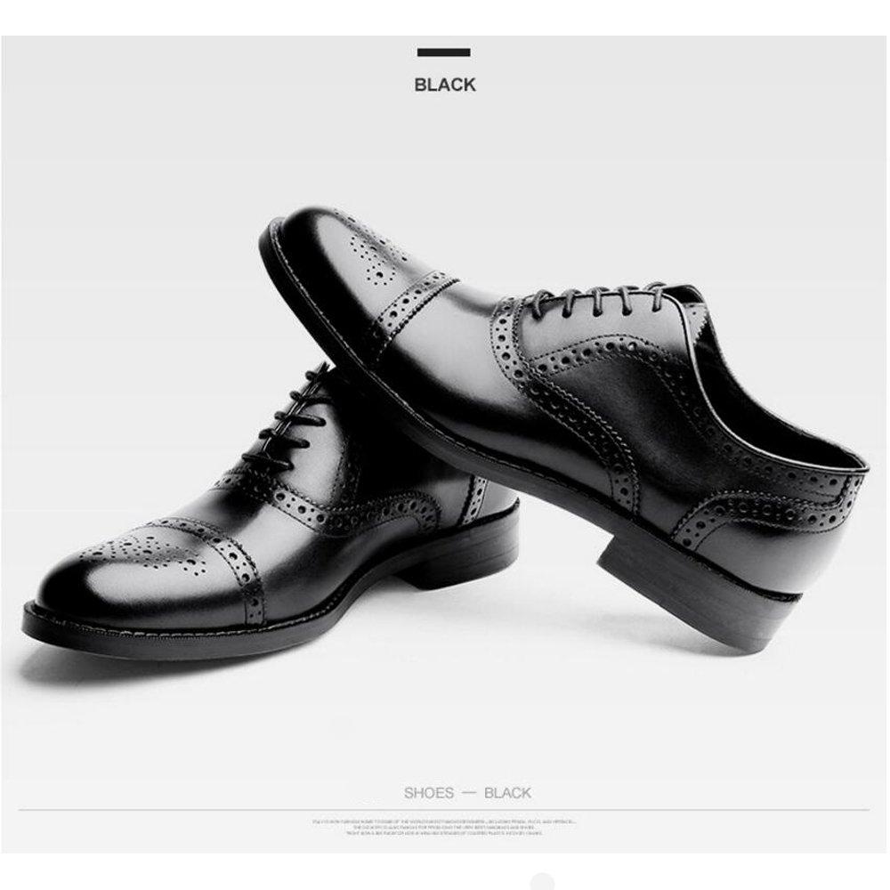 GAOLIXIA Herren Bullock Oxford Schuhe Classic Lace Up Kleid Schuhe Herren - Herren Herren Schuhe Lederschuhe Größe 6-14 Schwarz Braun 2fd169