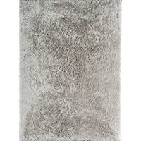 Momeni Rugs ESHAGENS-1GRY7696 Enchanted Shag Collection Traditional Area Rug, 76 x 96, Grey